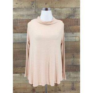 We the Free Cowl Neck Open Knit Ribbed Sweater XS